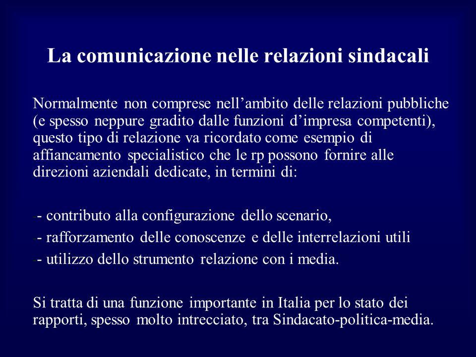 La comunicazione nelle relazioni sindacali