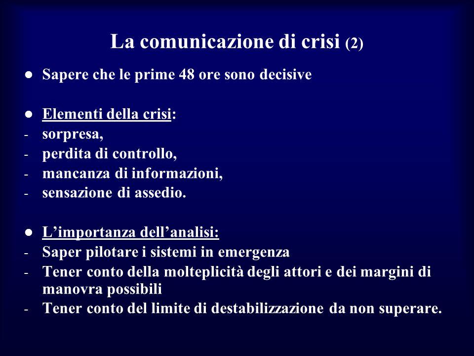 La comunicazione di crisi (2)