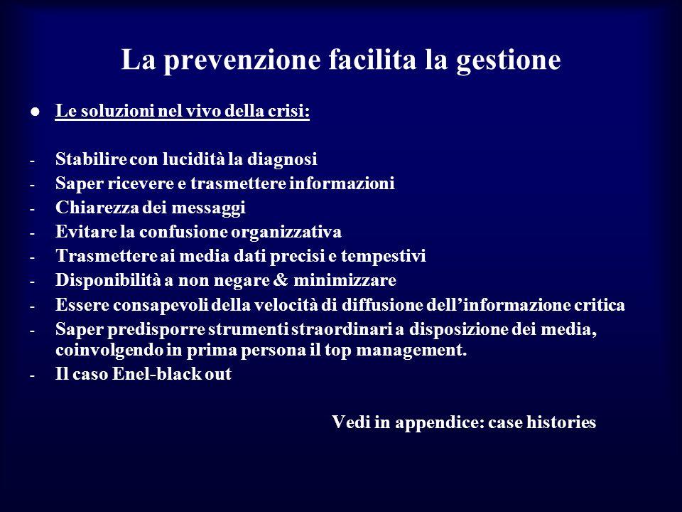 La prevenzione facilita la gestione