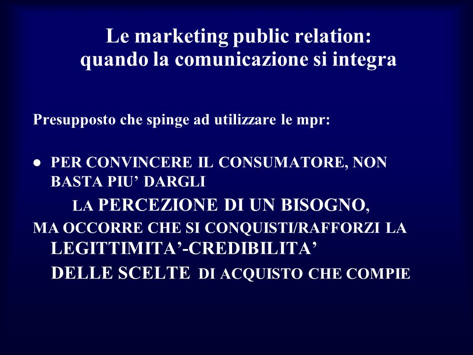 Le marketing public relation: quando la comunicazione si integra