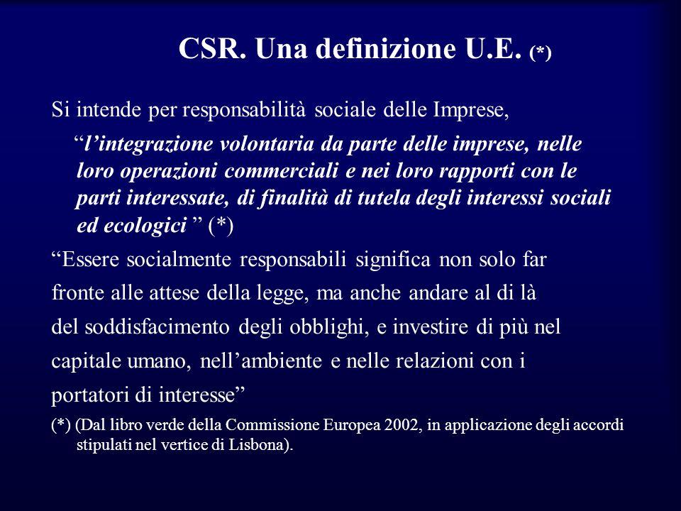 CSR. Una definizione U.E. (*)