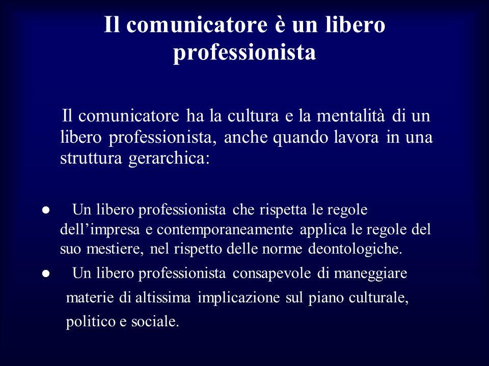 Il comunicatore è un libero professionista