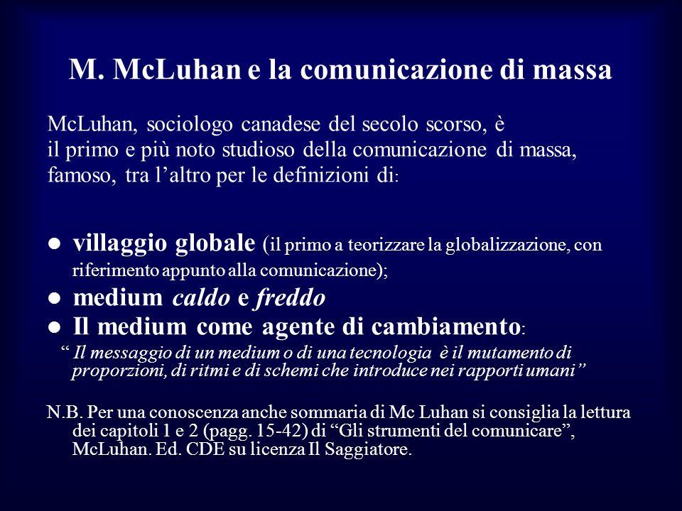 M. McLuhan e la comunicazione di massa