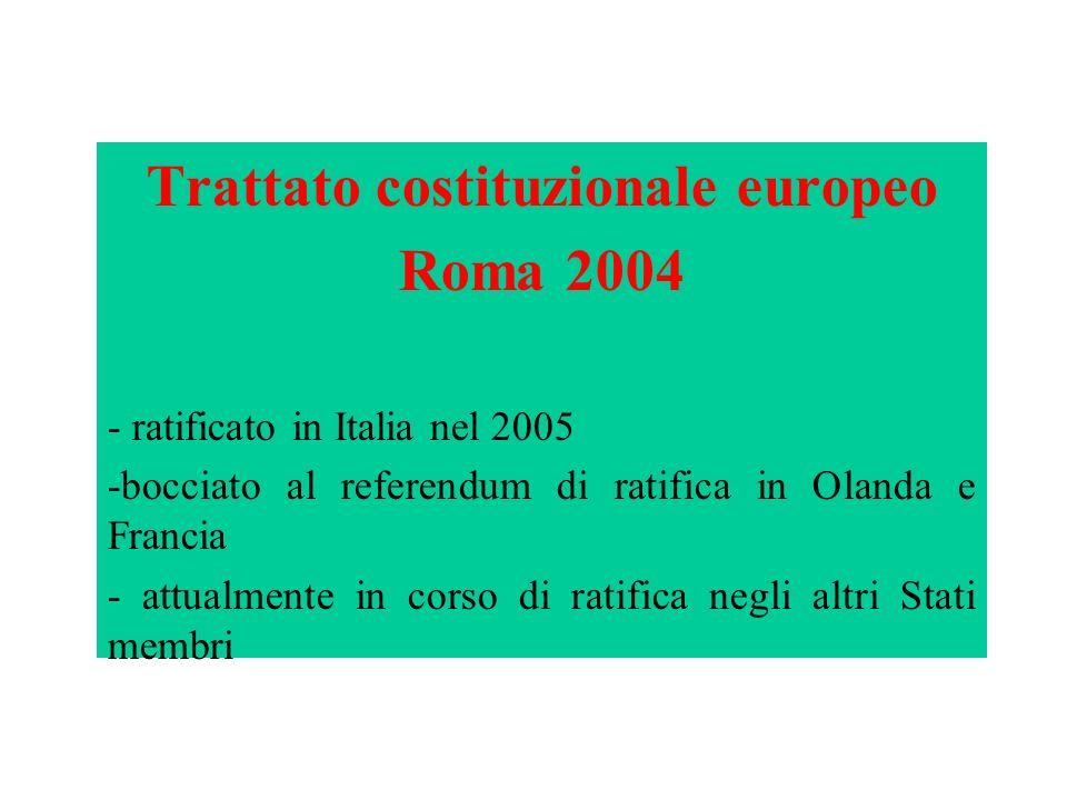 Trattato costituzionale europeo