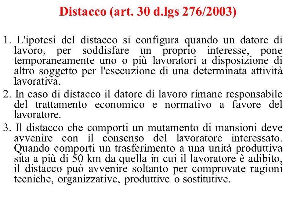 Distacco (art. 30 d.lgs 276/2003)