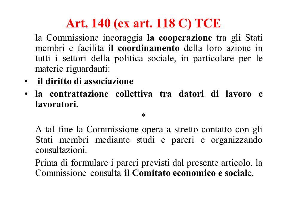 Art. 140 (ex art. 118 C) TCE