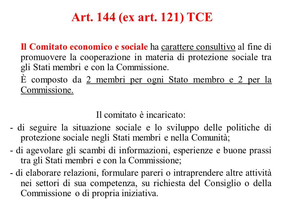 Il comitato è incaricato: