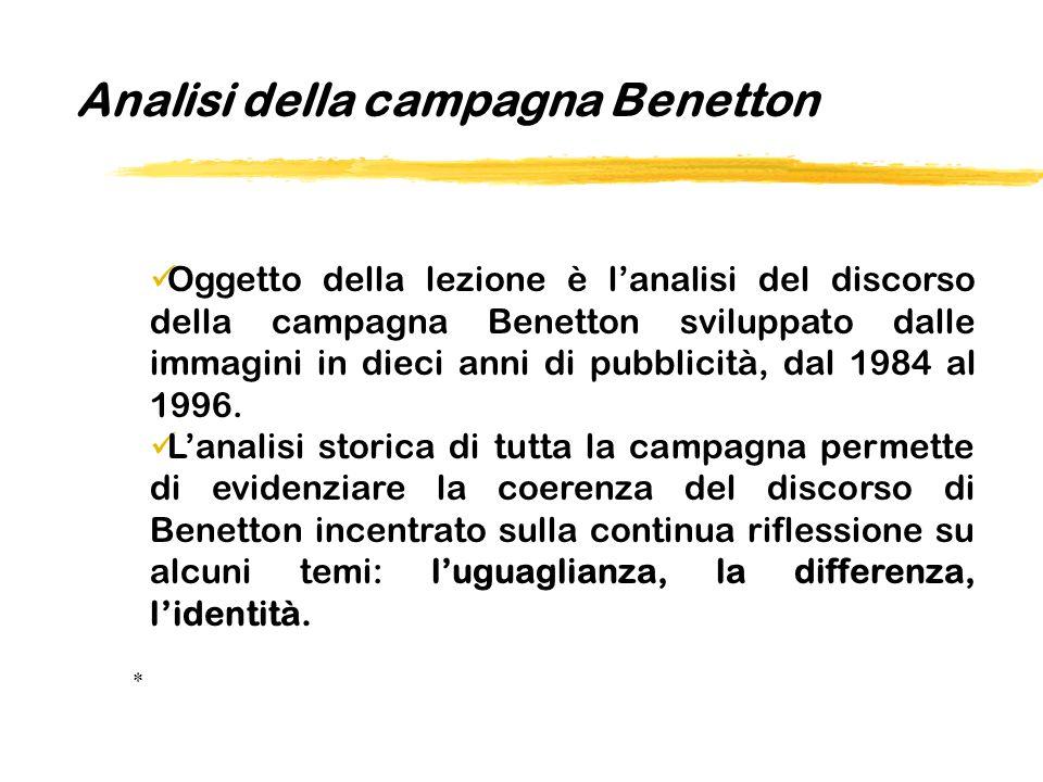 Analisi della campagna Benetton