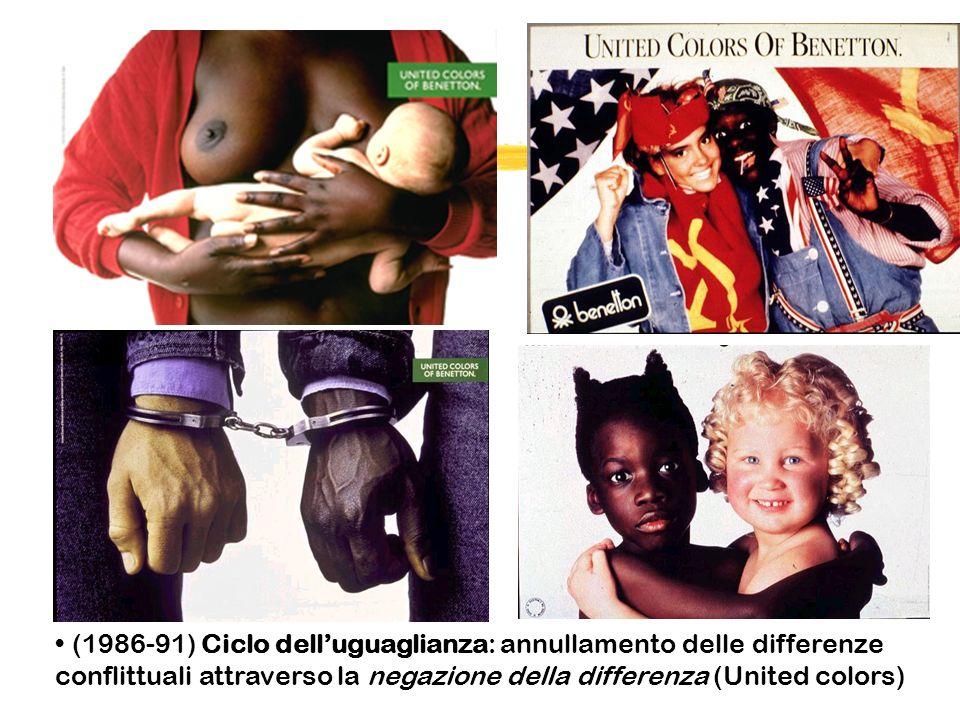 (1986-91) Ciclo dell'uguaglianza: annullamento delle differenze conflittuali attraverso la negazione della differenza (United colors)