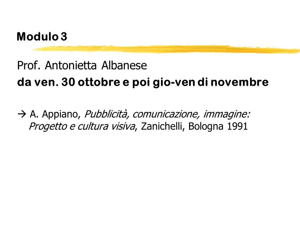 Prof. Antonietta Albanese da ven. 30 ottobre e poi gio-ven di novembre