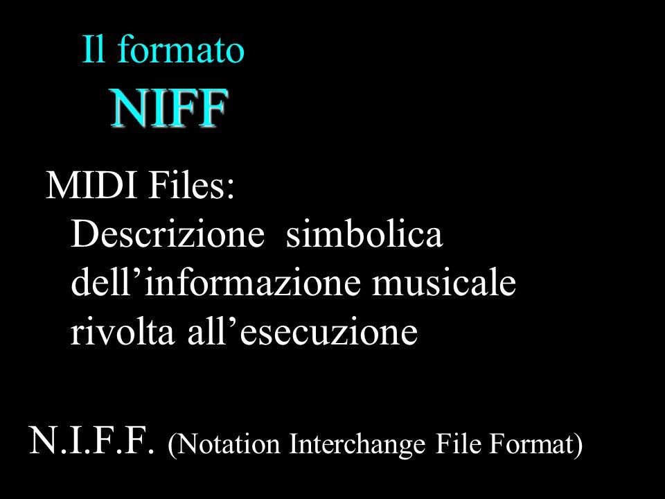 Il formato NIFF MIDI Files: Descrizione simbolica dell'informazione musicale rivolta all'esecuzione.