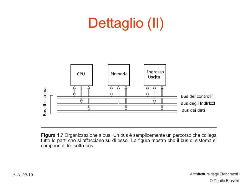 Dettaglio (II) A.A. 09/10 Architetture degli Elaboratori I