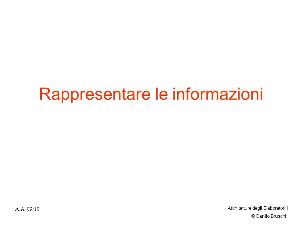 Rappresentare le informazioni