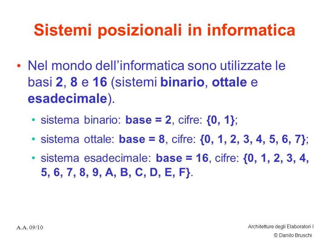 Sistemi posizionali in informatica