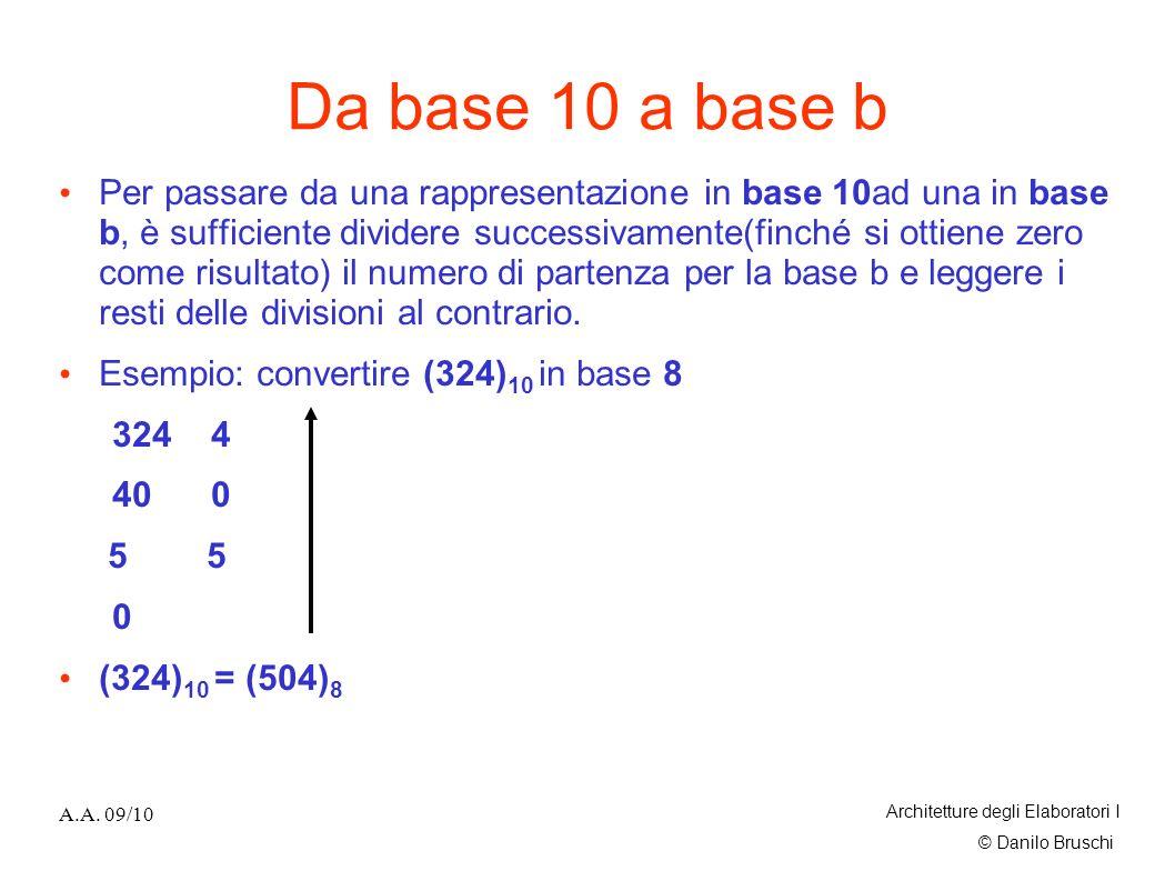 Da base 10 a base b