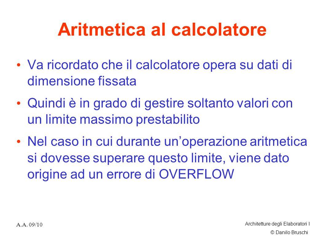 Aritmetica al calcolatore