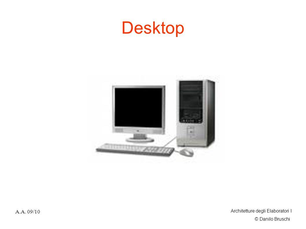 Desktop A.A. 09/10 Architetture degli Elaboratori I