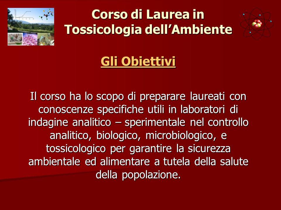 Corso di Laurea in Tossicologia dell'Ambiente