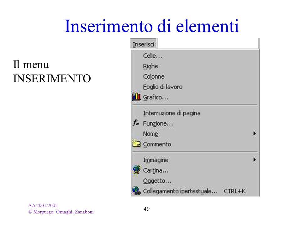 Inserimento di elementi
