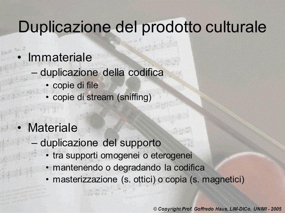 Duplicazione del prodotto culturale