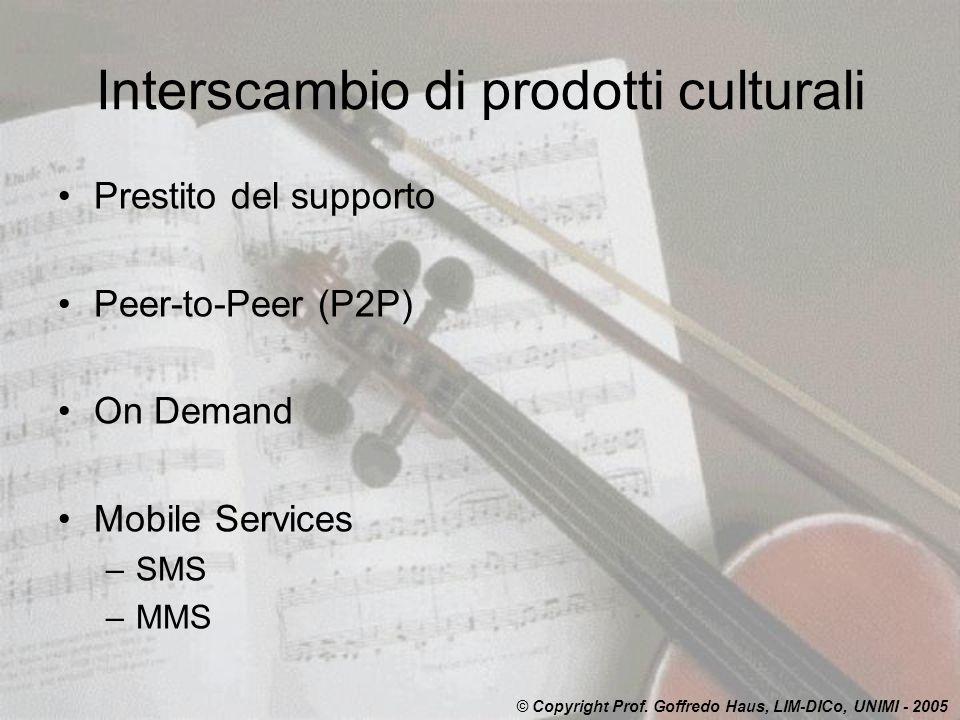 Interscambio di prodotti culturali