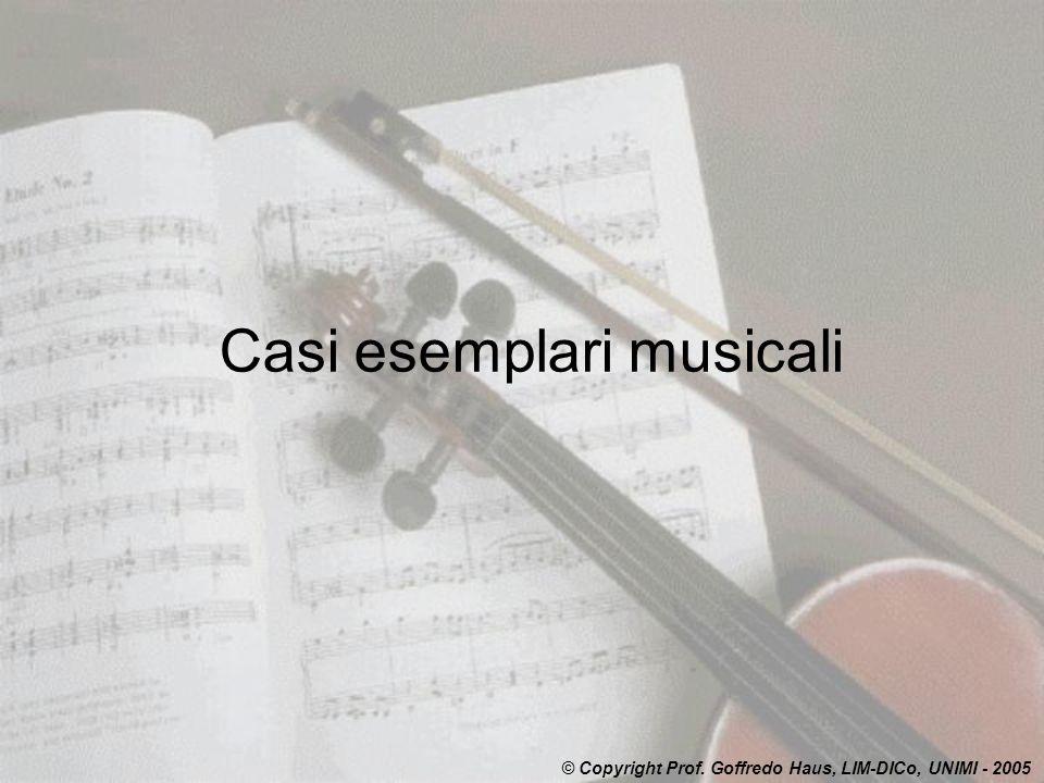 Casi esemplari musicali
