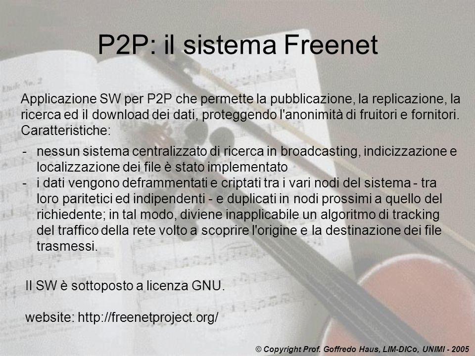 P2P: il sistema Freenet