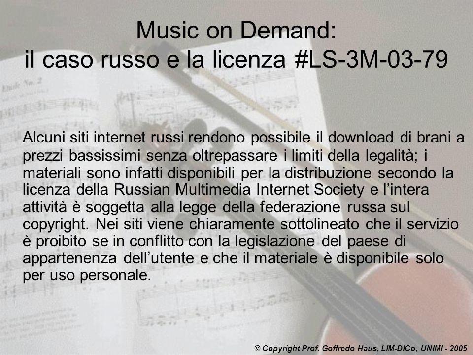 Music on Demand: il caso russo e la licenza #LS-3M-03-79