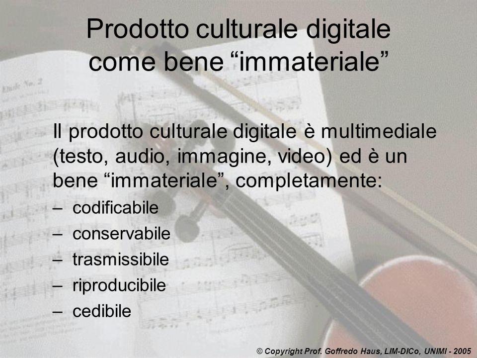 Prodotto culturale digitale come bene immateriale