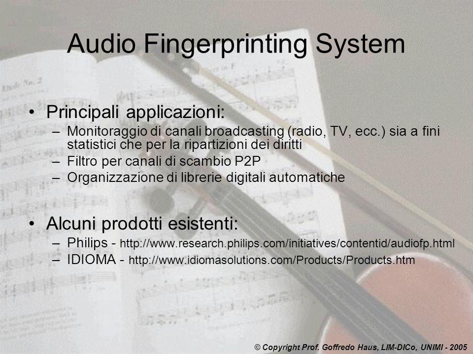 Audio Fingerprinting System