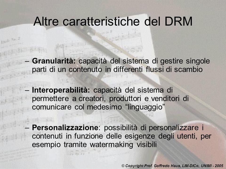 Altre caratteristiche del DRM