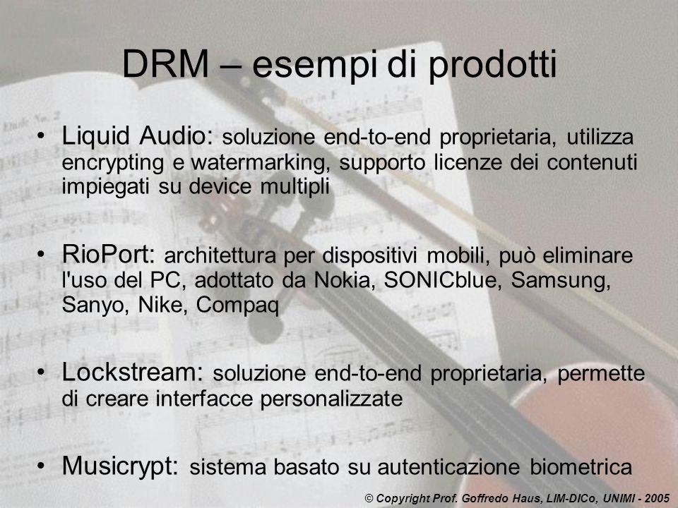 DRM – esempi di prodotti