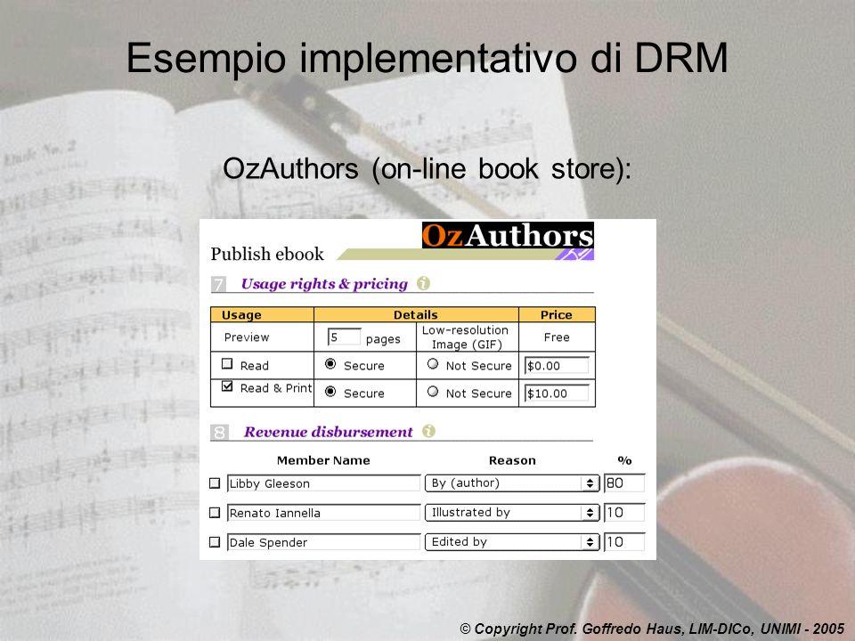 Esempio implementativo di DRM