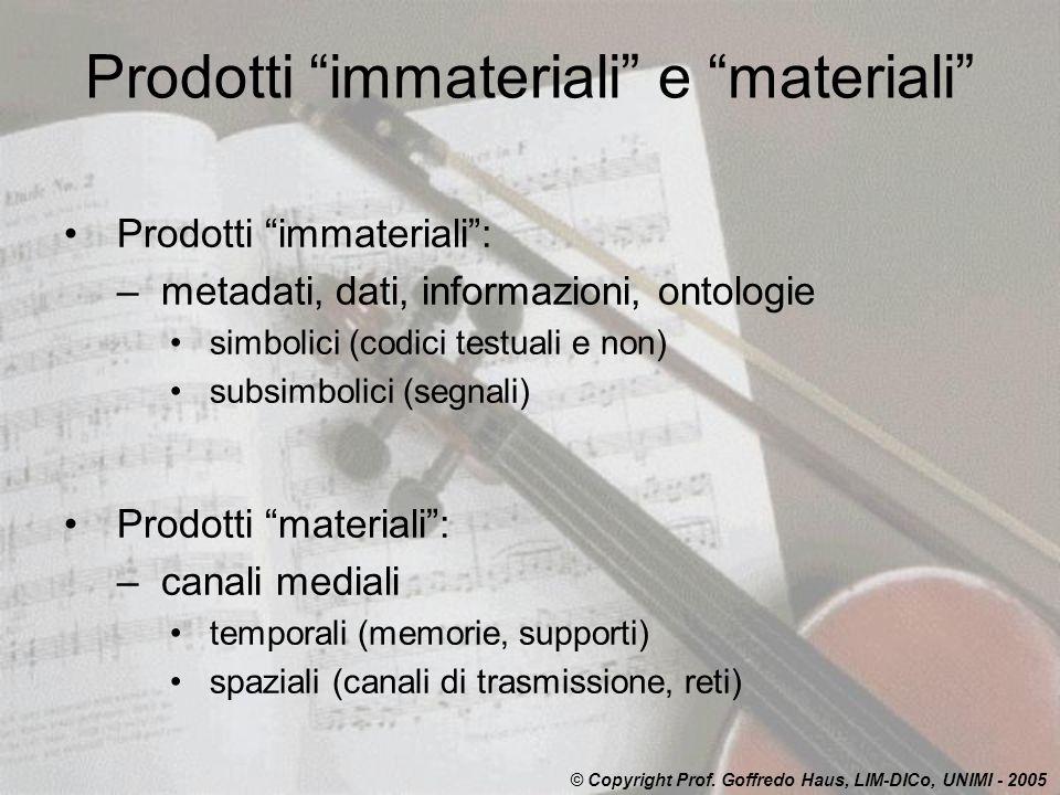 Prodotti immateriali e materiali