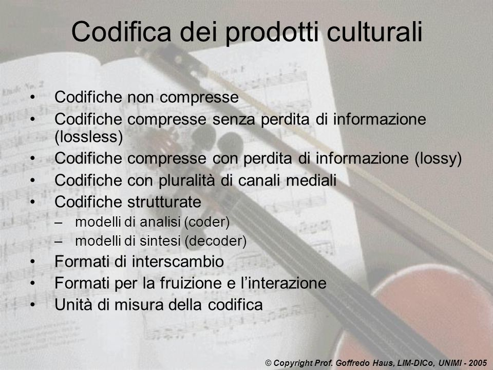 Codifica dei prodotti culturali