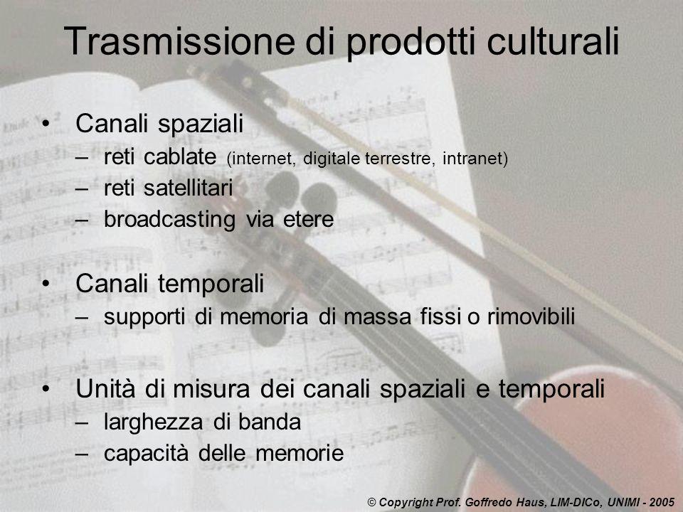 Trasmissione di prodotti culturali