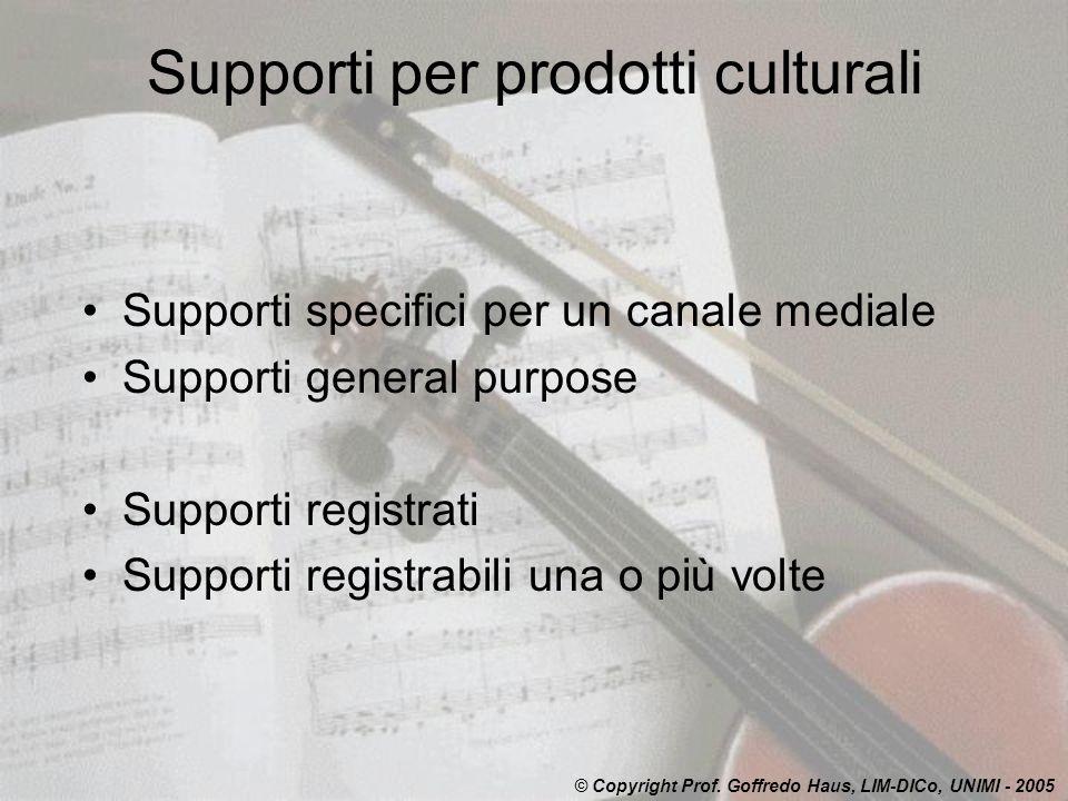 Supporti per prodotti culturali