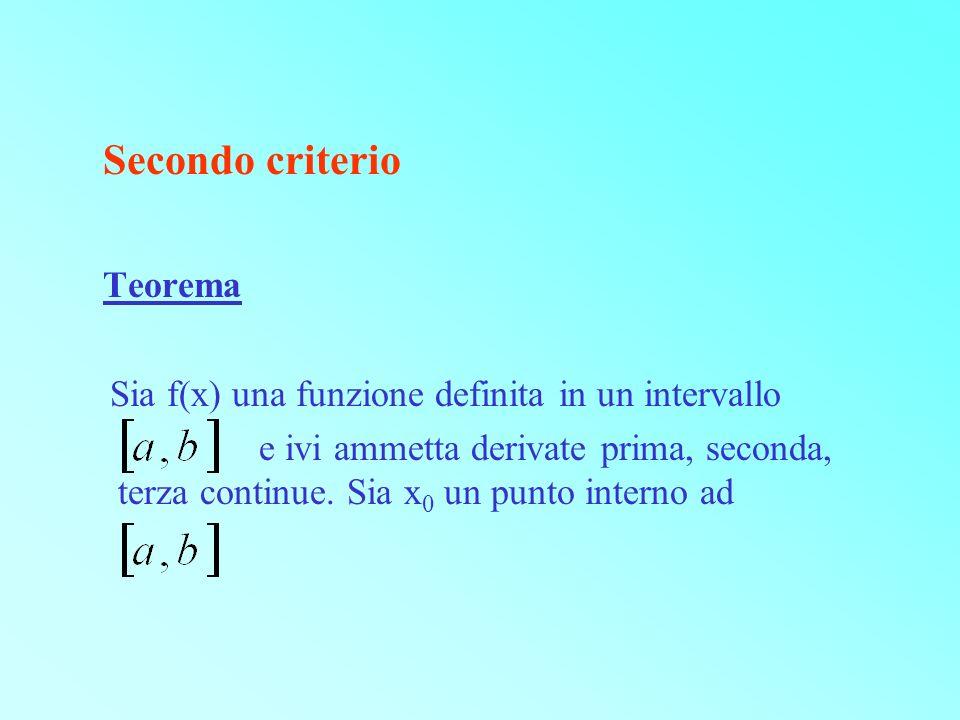 Secondo criterio Teorema