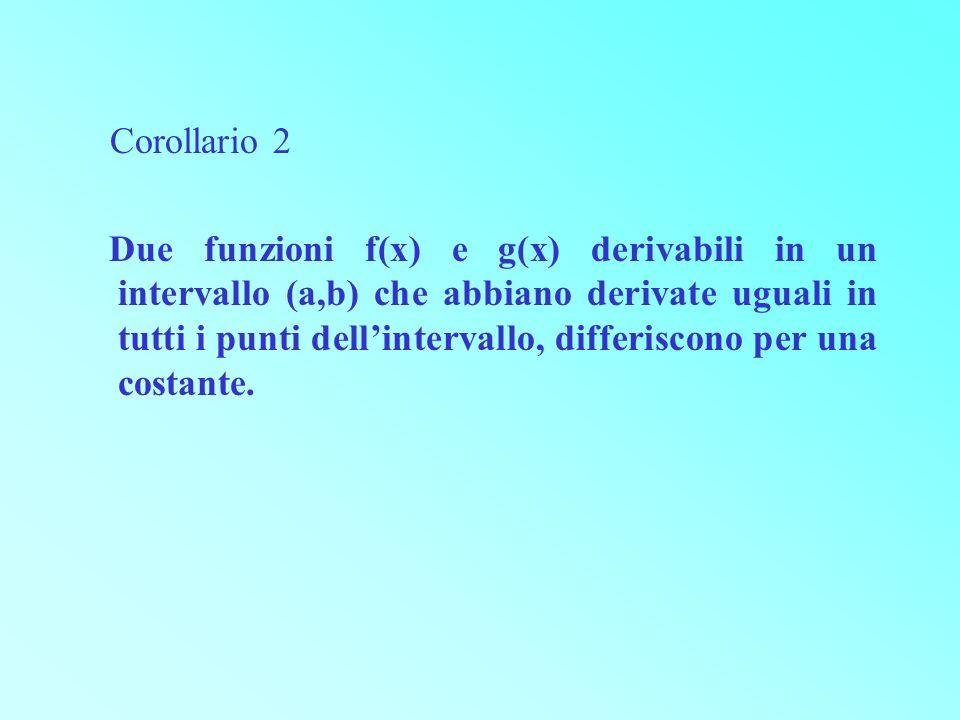 Corollario 2