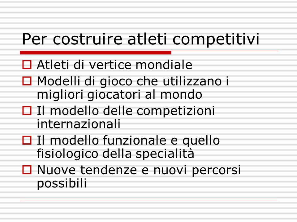 Per costruire atleti competitivi