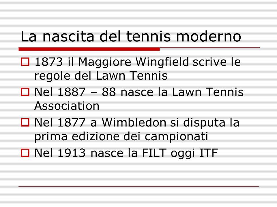 La nascita del tennis moderno