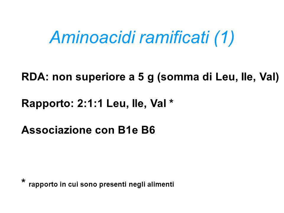 Aminoacidi ramificati (1)