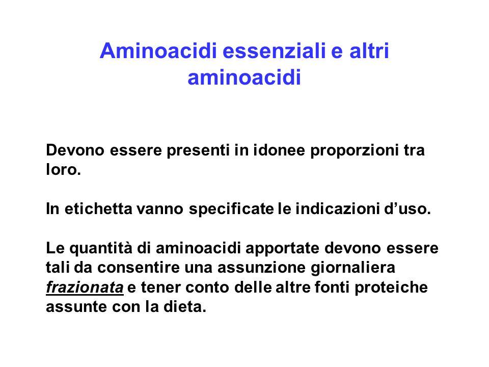 Aminoacidi essenziali e altri aminoacidi