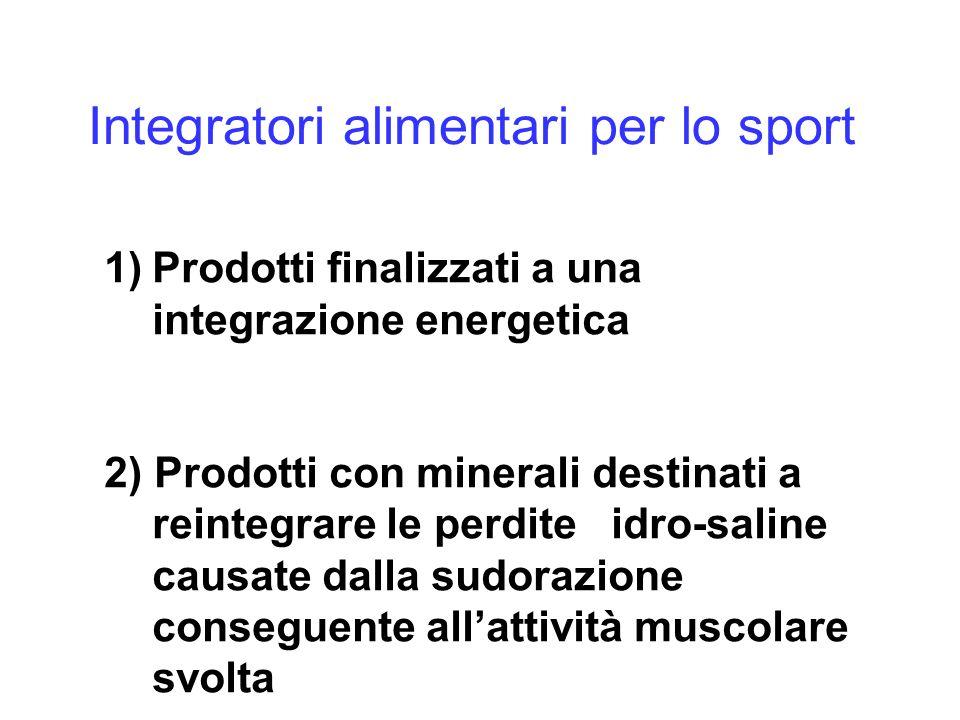 Integratori alimentari per lo sport