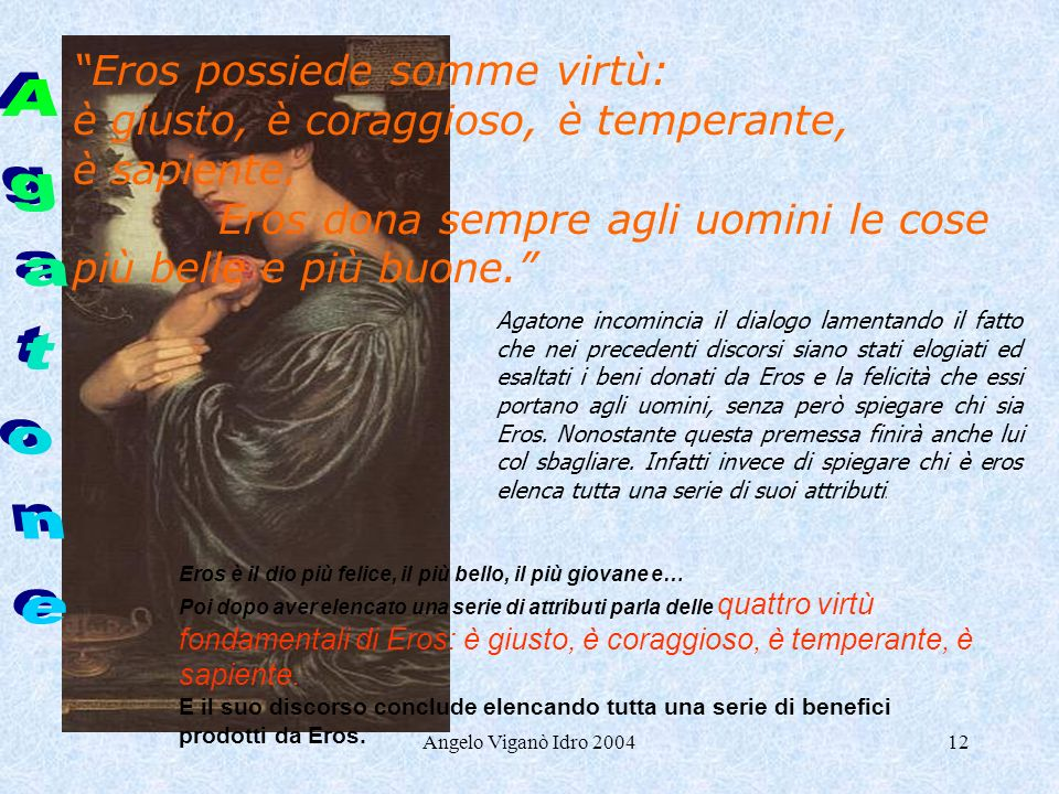 Agatone Eros possiede somme virtù: