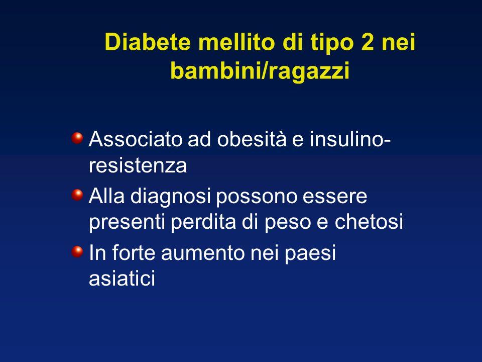 Diabete mellito di tipo 2 nei bambini/ragazzi