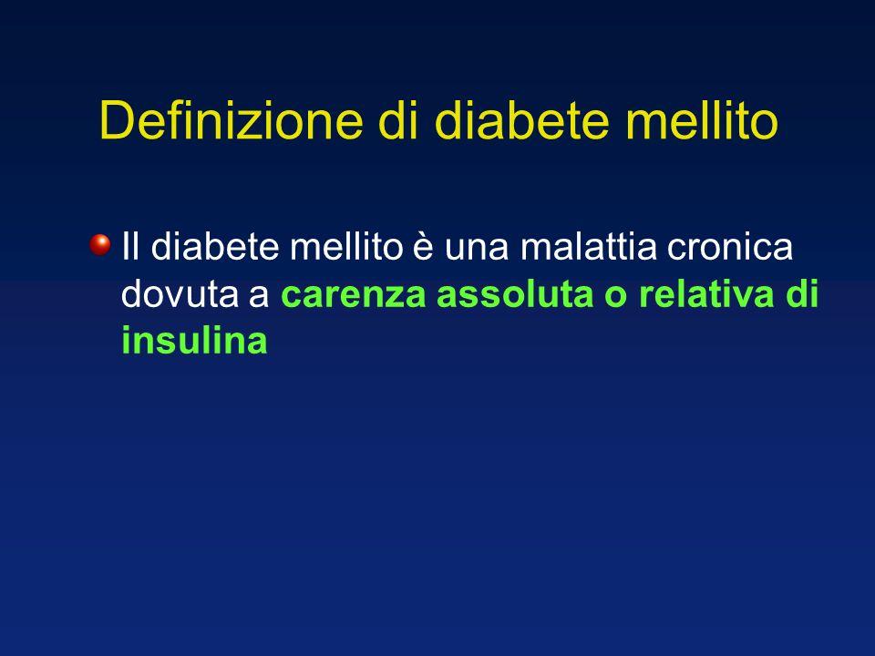 Definizione di diabete mellito