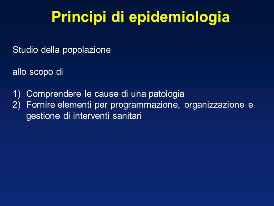Principi di epidemiologia