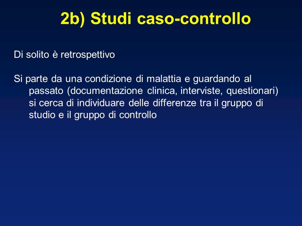 2b) Studi caso-controllo