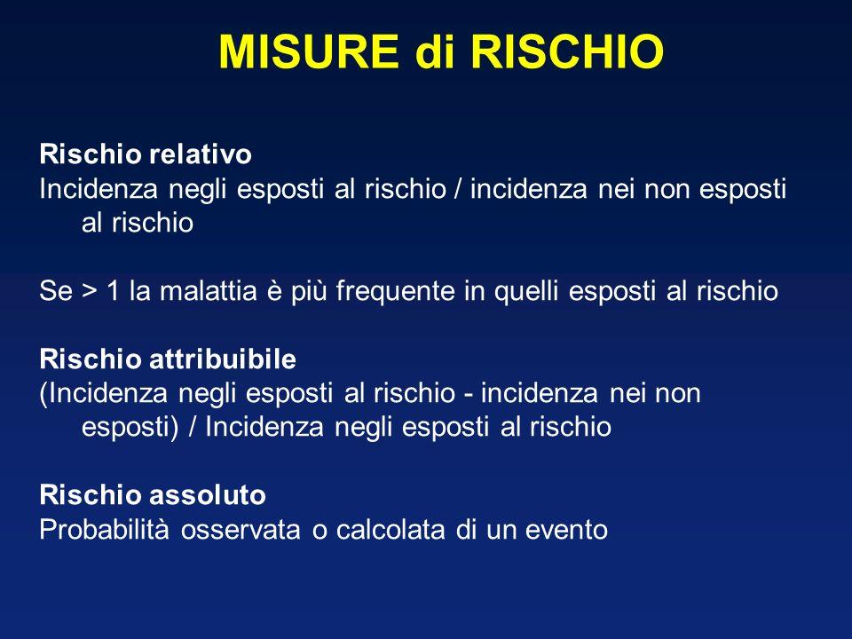 MISURE di RISCHIO Rischio relativo